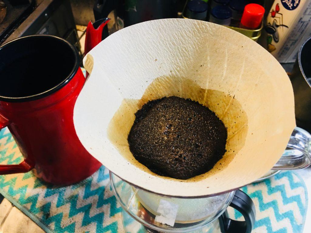 ドリップコーヒーの蒸らし