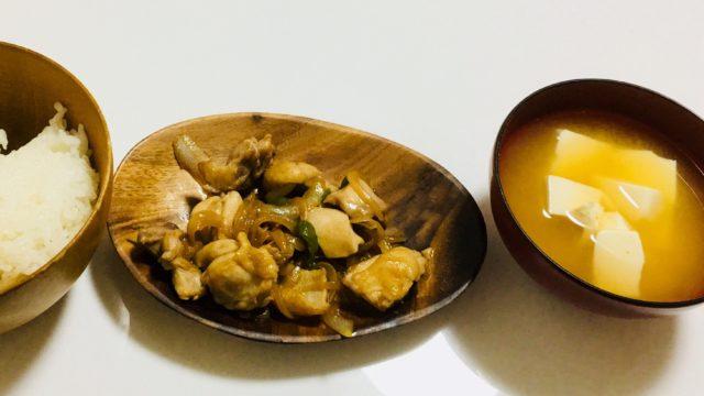 鶏もも肉炒めぽん酢風味