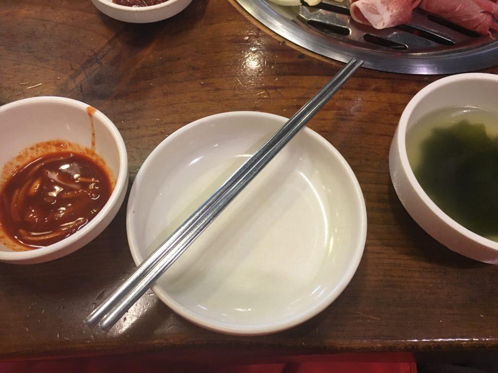 セマウル食堂の鉄箸