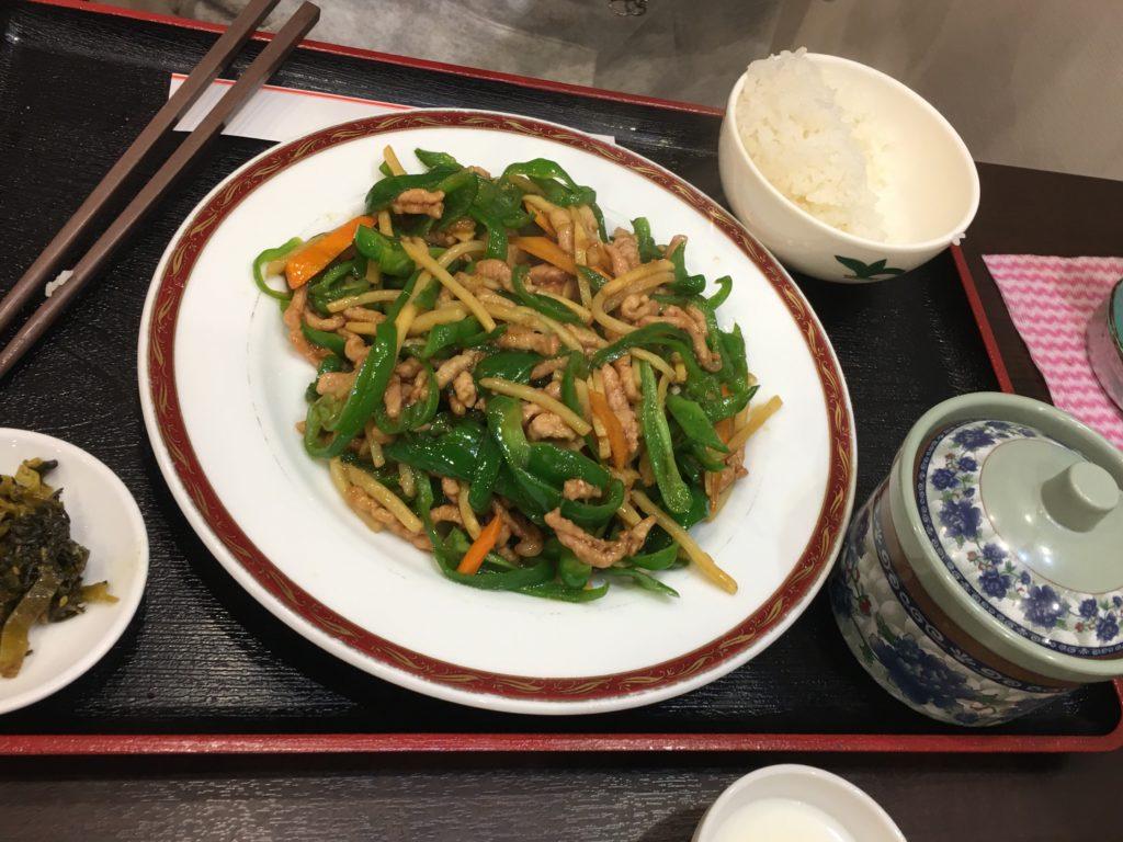 麻辣房の青椒肉絲