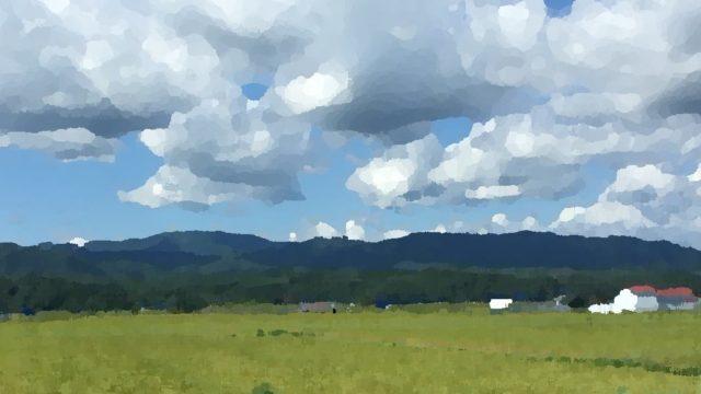 北海道の田舎の風景