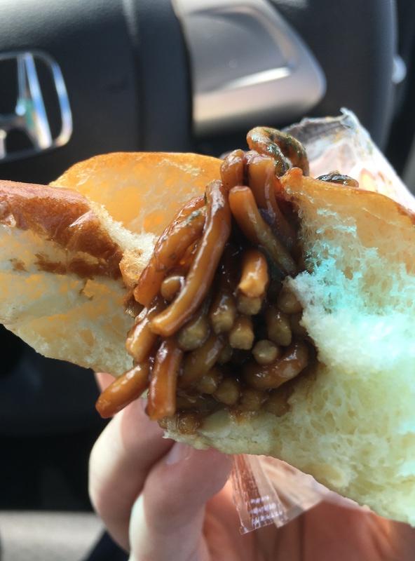 UFO焼きそばパンの中身とソース