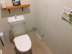 トラピアの広いトイレ