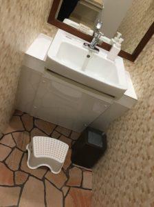 トラピアの洗面台