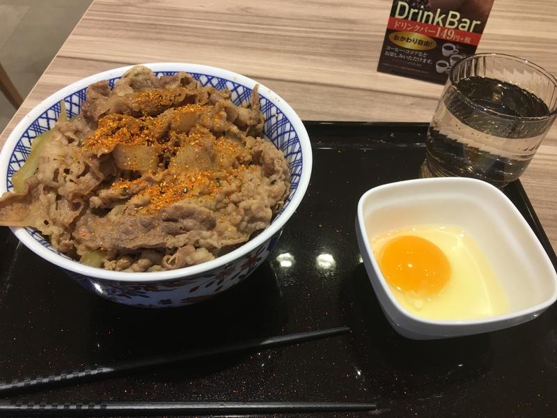 岩見沢の黒吉野家の牛丼