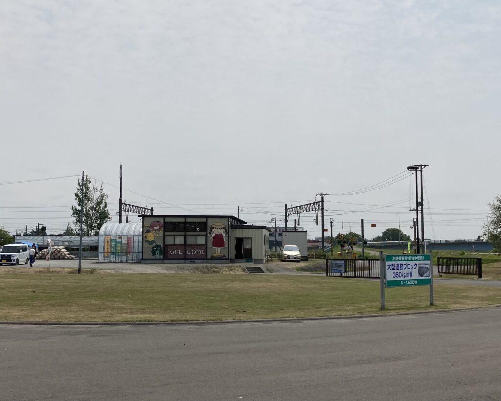 江別市河川防災センターの野菜売り場