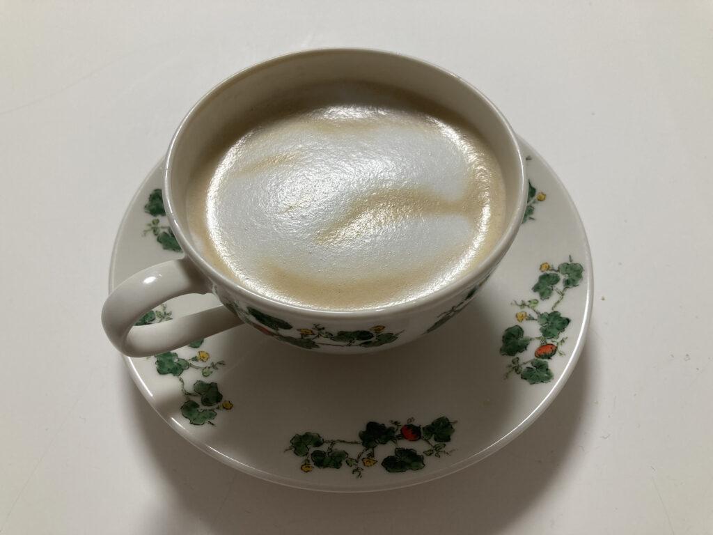 ハリオクリーマーキュートで作ったカフェラテ