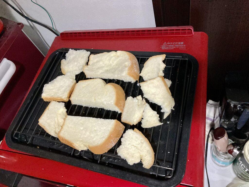 コストコのミルクブレッドをヘルシオで焼く